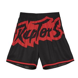 Men's Mitchell & Ness Black NBA Toronto Raptors Big Face 2.0 Blownout Shorts