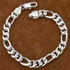 Compact Simple Unisex Silver Plated On Solid Copper Gift Vintage Bracelets FT8