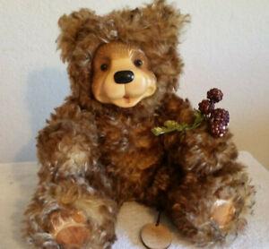 Robert Raikes Curly Mohair bear  BEARY  Box and COA