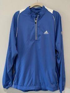 Adidas Climaproof Golf Pullover 1/4 Zip Jacket Light Blue/White EUC XL