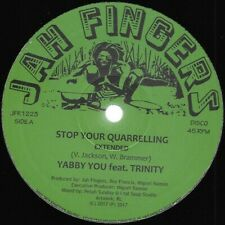 "12"" YABBY YOU - STOP YOUR QUARRELLING -  / JAH FINGERS LABEL  / REGGAE/DUB"