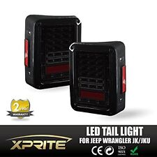 Smoke Lens Red LED Tail Light Turn Signal Back Up For Jeep Wrangler U 2007  2016