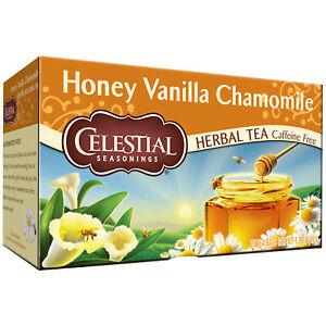Celestial Seasonings Honey Vanilla Chamomile Herbal Tea, 1 Box, 20 tea bags