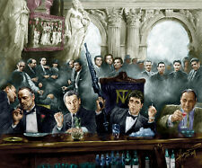 Godfather, Scarface,Goodfellas, Sopranos, James Gandolfini, giclee print by Star