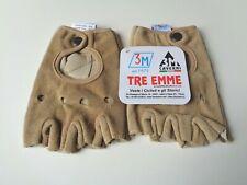 *NOS Vintage 3M Tre Emme beige suede cycling gloves/mitts*