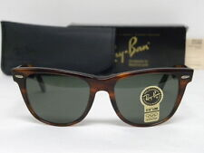 New Vintage B&L Ray Ban Wayfarer II L1725 Mock Tortoise 54mm Sunglasses USA NOS