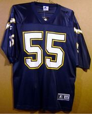 SAN DIEGO CHARGERS JUNIOR SEAU NAVY NFL SIZE 48 JERSEY
