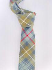 POLO BY RALPH LAUREN Green Wool Check Tartan Mens Tie