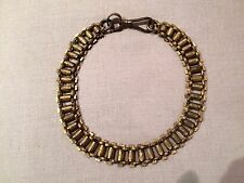 Antique Victorian engraved embossed brass dog collar 20 inches