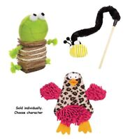 Cat Toys Interactive Chase Pounce Pick Fun Bee Wand Crinkle Chick Crunchy Frog