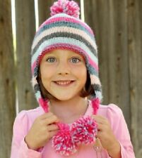 CA023 KNITTING PATTERN PLAIN AND SIMPLE BABY OR CHILDS EAR FLAP HAT