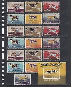Dogs Animals Churchill 1969-70 Stroma GB MNH 3 sets perf  + 1 S/s Wholesale lot