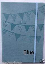 A5 Blue Notebook Notepad Pastels Premium Soft Feel Ruled Hardback 100 Sheets NEW