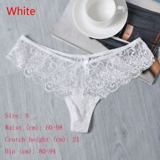 168aed1071 4 Colors Women Lingerie Low Waist Lace Thong Panty G String Underwear White  L