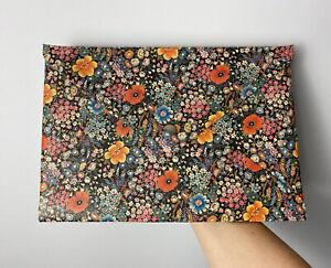 Folio Clutch Bag A4 Floral Dr Martens Leather Scrap Handmade Envelope shape
