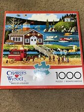Charles Wysocki BIRDS OF A FEATHER Buffalo 1000 Piece Puzzle & Poster