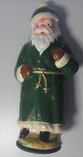 Candybox Weihnachtsmann sehr Alt! Pappmache 30cm* Grün mit Bommel Süßigkeiten