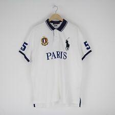 Vintage Ralph Lauren Polo Paris Rugby Numbered Polo Shirt Custom 2XL XXL 2681