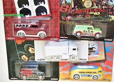 HOT WHEELS POP CULTURE THE BEATLES SET OF 5 DAIRY DELIVERY HIWAY HAULER MINI VAN