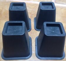 "Bed Risers 5"" Black Square Set Of 4"
