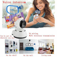 Wireless WIFI Webcam IP Camera Pan Tilt 720P Security Network CCTV Night Vision#