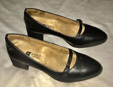 SFC Shoes for Crews Marla Black Leather Women's Dress Heel Shoes Size 7 EXC