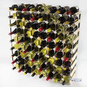 Cranville wine rack storage 72 bottle pine wood and metal wine rack self build