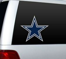"BIG 10"" DALLAS COWBOYS CAR HOME PERFORATED WINDOW FILM DECAL NFL FOOTBALL #1"