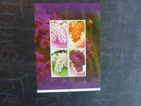 2010 THAILAND ORCHIDS 4 STAMP MINI SHEET MINT MNH