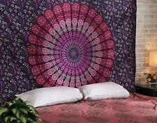 Maroon Star Mandala Tapestry Hippie Wall Hanging Throw Twin Bedspread