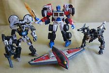 Transformers (2010) Laser Optimus Prime, Gen Laserbeak,  DOTM Hatchet & Tailpipe