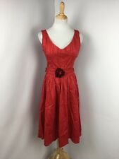 Pin Up Dress Red Rockabilly Lucky 13 Retro Girl Mid Century Summer 40s 50s NWT