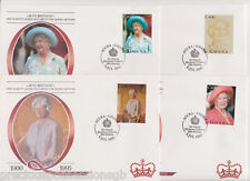 GHANA QUEEN MOTHER'S 95TH BIRTHDAY FDC SET OF 4 1995 FIRST DAY COVERS