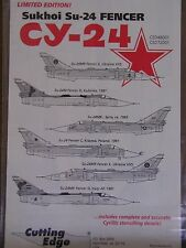 1/48 Cutting Edge SUKHOI Su 24 FENCER 6 different aircraft VVS Decal OOP Suchoi