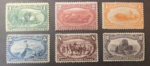 JJ: US Stamps 285-290 MINT H 1898 TRANS-MISSISSIPPI Set GREAT Centering on 289!