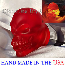 Harley Davidson custom turn signal tail lighting Skull lenses Red Matte bullet