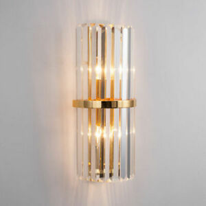 Hallway Large Crystal Wall Lamps Sconce Home LED Fixtures Bedside Wall Lighting