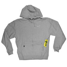 Cliche SKULL CAMERA Mens Zipper Front Hoodie Sweatshirt Jacket Large Grey NEW