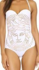 NWT Authentic VERSACE Embellished Medusa White One Peace Swimsuit sz1 (sz 2 USA)