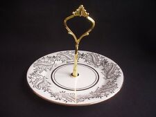 More details for vintage cake stand / cupcake plate ~fine china ~22k gold decoration
