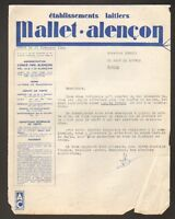 "CONDE-sur-SARTHE (61) LAITERIE ""MALLET.ALENCON"" en 1956"