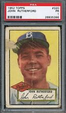 """1952 Topps #320   John Rutherford   Dodgers      """"High Number""""   PSA 1 !!"""
