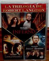 EL CODIGO DA VINCI-ANGELES Y DEMONIOS-INFERNO 3 DVD NUEVO THRILLER (SIN ABRIR)