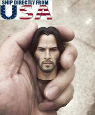 "CUSTOM 1/6 John Wick Head Sculpt For Keanu Reeves 12"" Hot Toys Figure U.S.A."