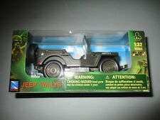 MINIATURE MILITAIRE JEEP  CITROEN  WILLYS US ARMY 1/32 BOX NOEL 2018 NEUF