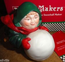 SEBASTIAN THE SNOWBALL MAKER #93670 DEPT 56  RETIRED MERRY MAKERS HARD TO FIND