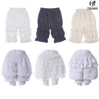 Lolita Bloomers Victorian Ruffle Bubble Pumpkin Safety Shorts Underpants Cosplay