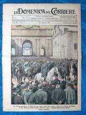 La Domenica del Corriere 16 marzo 1919 Gen.Chionetti - Canale di Francia - Roma