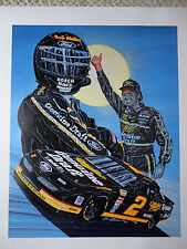 "RUSTY WALLACE ""FLY IT!"" SAM BASS LIMITED EDITION SIGNED NUMBERED RARE PRINT"