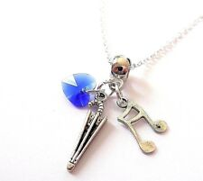 """Singing in the rain 20"""" silver necklace themed jewellery gift party bag favours"""